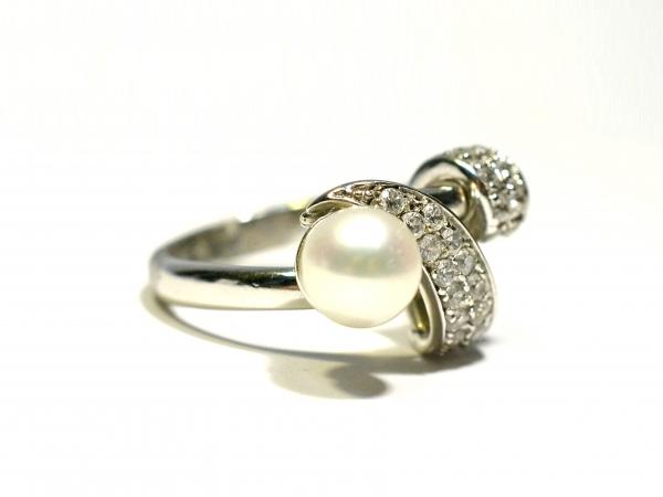 Zlatý prsten s perlou a zirkony - Antique-Patrice b867207d993
